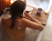 Sustainable Wood Bath Tray in Oak, Natural Bath Caddy for Self Care, Bathtub Tray by Peg and Awl