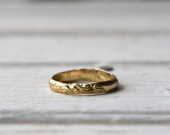 Vintage Style Engagement Ring, 14K Gold Ring, Wedding Ring, Sterling Silver Ring by Peg and Awl   Eulalie All the Names