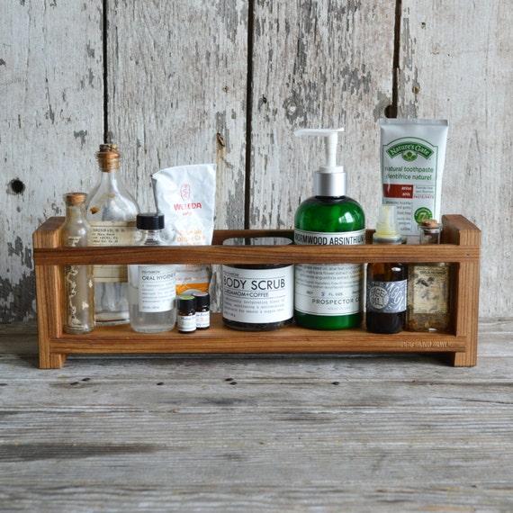 Apothecary Caddy Peg and Awl Spice Rack Bathroom | Etsy