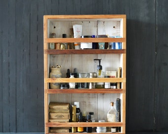 Wood Apothecary Cabinet, Organize Bathroom, Medicine Cabinet, Spice Cabinet, Spice Rack, Rustic Home Decor, Wedding Gift, Gift for Men, Her