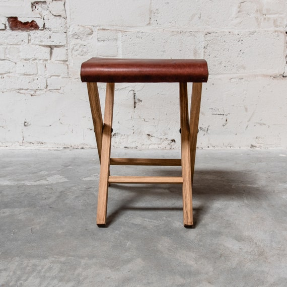 Fine Expedition Folding Camp Stool Lewis And Clark Hygge Home Decor Wood And Leather Folding Chair By Peg And Awl Ibusinesslaw Wood Chair Design Ideas Ibusinesslaworg
