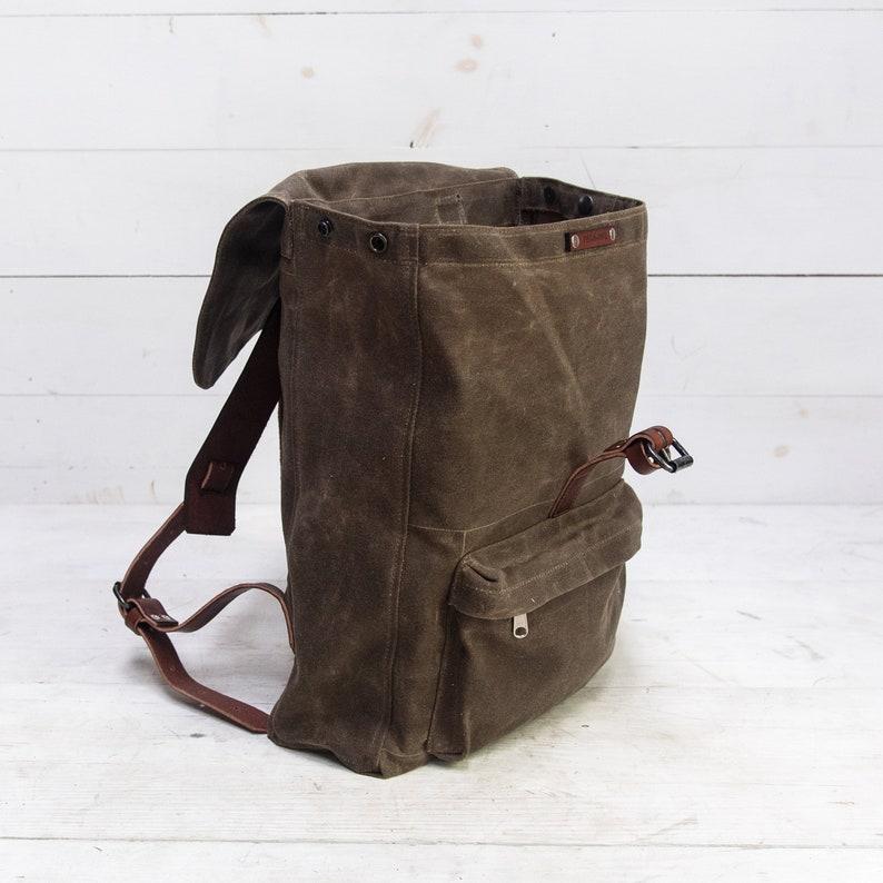 8c6b294667 Waxed Canvas Rogue Backpack Travel Bag Rustic Rucksack