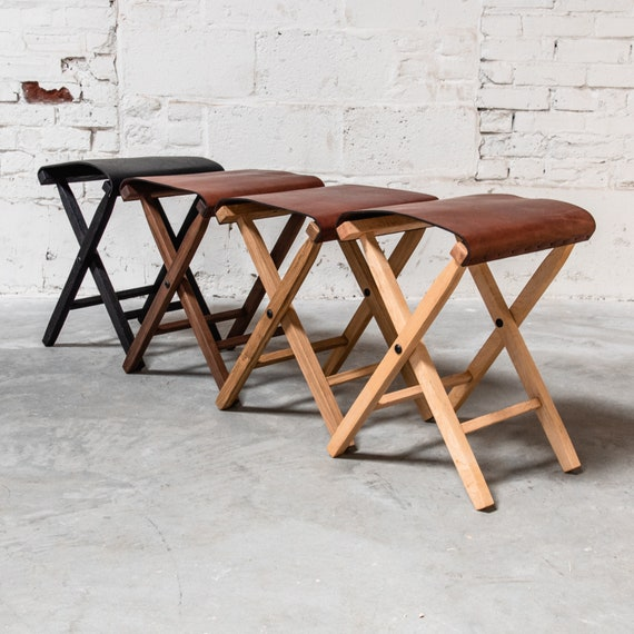 Outstanding Expedition Folding Camp Stool Lewis And Clark Hygge Home Decor Wood And Leather Folding Chair By Peg And Awl Ibusinesslaw Wood Chair Design Ideas Ibusinesslaworg