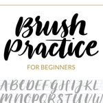 Brush Lettering Practice Sheet - Downloadable Calligraphy Practice Sheet - Hand Lettering Grid Font