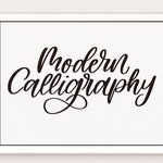 Modern Calligraphy Lettering Procreate Brush