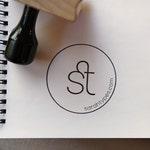 Custom Logo Rubber Stamp - Your Logo or Custom Design On a Stamp