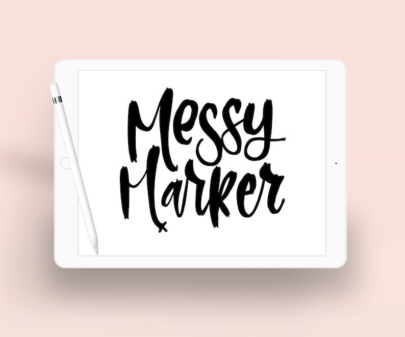 Messy Marker  Messy Lettering  Calligraphy Lettering image 0