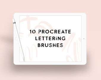 Modern Calligraphy Lettering Procreate Brushes - Ten Procreate Brushes - Procreate Lettering Brush Bundle