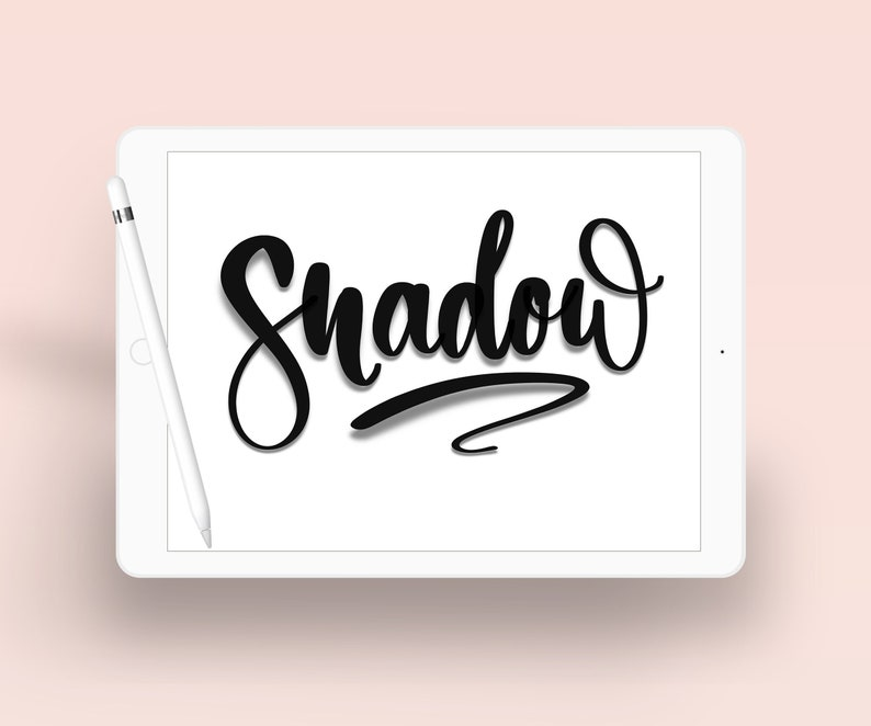Shadow  Brush Lettering  Calligraphy Lettering Procreate image 0