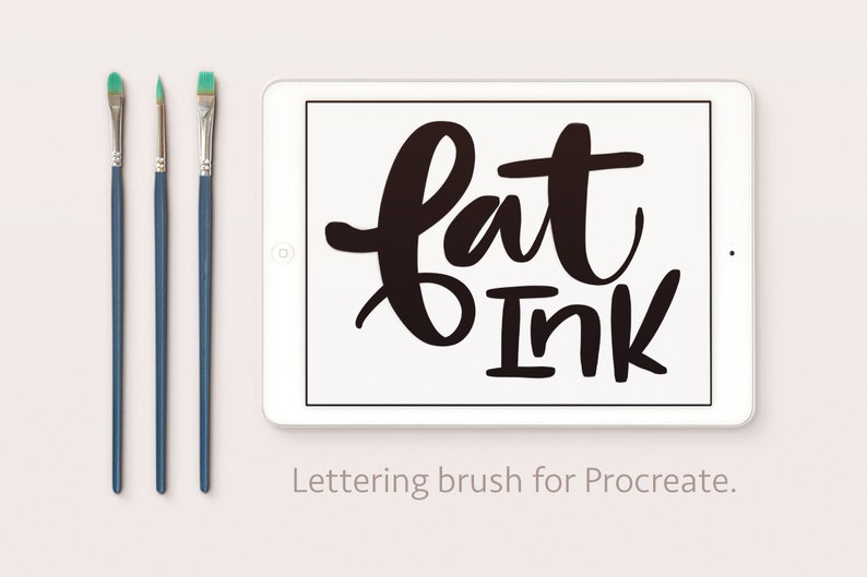 Fat Ink  Thick and Thins  Calligraphy Lettering Procreate image 0