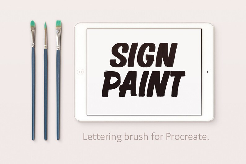 Sing Painter  Paint Brush  Calligraphy Lettering Procreate image 0