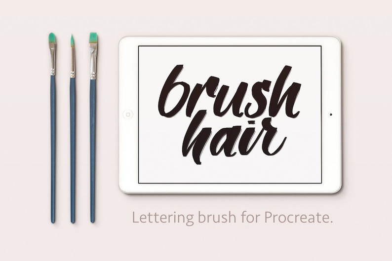 Loose Hair  Paint Brush  Calligraphy Lettering Procreate image 0