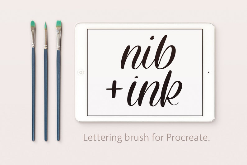 Nib and Ink  Thick and Thins  Calligraphy Lettering image 0