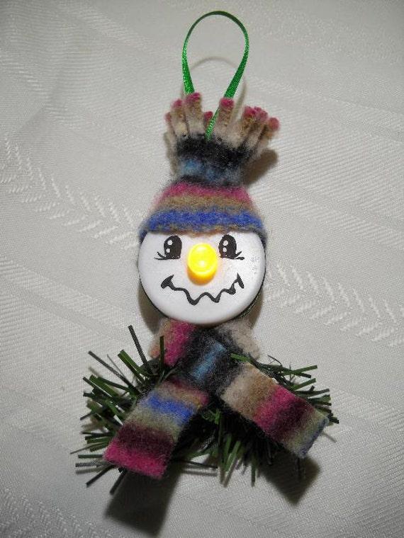 Tea Light Snowman Ornament Etsy