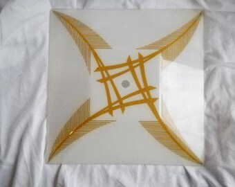 Vintage Square Glass Ceiling Light Shade