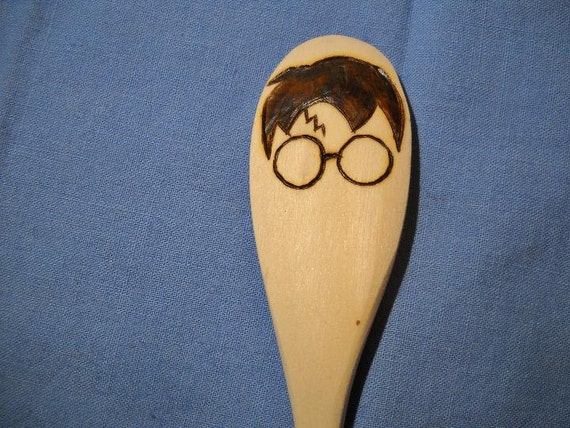 Harry Potter-Inspired Quiddich Wood Burned Spoon