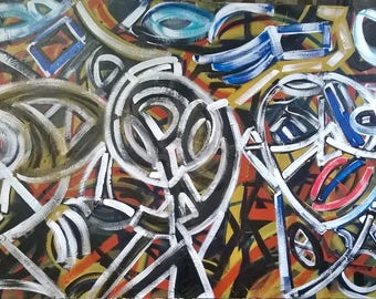 Jazz Musicians Painting Abstract