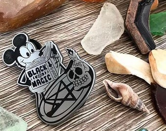 Black Magic Mouse • Disney Fantasy Pin • Goth Witch Occult Magick