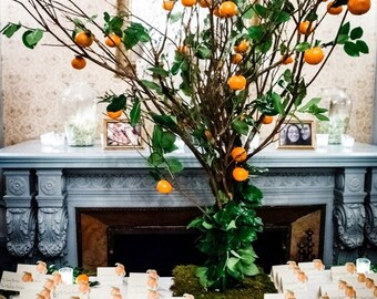 Orange Place Card - Gift Card - Table Number Card - Menu Card -Holidays -weddings events