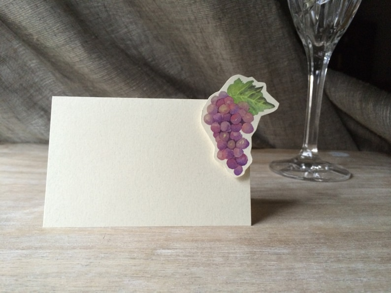Grapes Menu Card -weddings events Wedding Place Card Gift Card Table Number Card