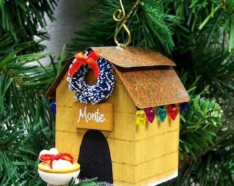 Personalized Dog Christmas Ornament - Dog House