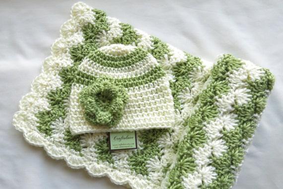 Häkeln baby Decke Baby Mädchen Dusche Geschenk-Set | Etsy
