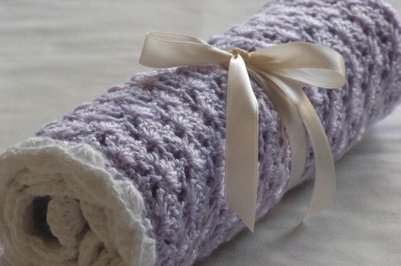 Baby-Mädchen-Decke häkeln Babydecke schöne lila | Etsy