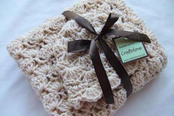 Baby Mädchen Dusche Geschenk häkeln-Baby-Decke natürlichen | Etsy