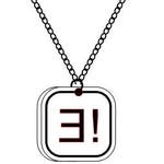 Custom sterling silver pendant with programming symbols