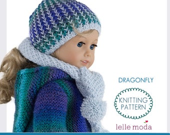 Winter Hat And Scarf Pattern For 18 Inch Doll Fits American Etsy
