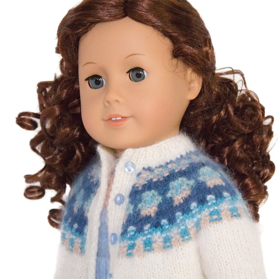 18 Inch Doll Clothes Knitting Pattern Doll Cardigan Fits American