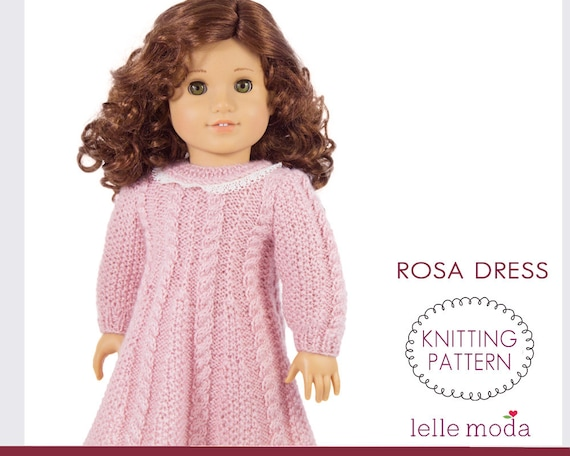 Doll Dress Pattern Knitting Pattern Cable Knitted Dress For Etsy