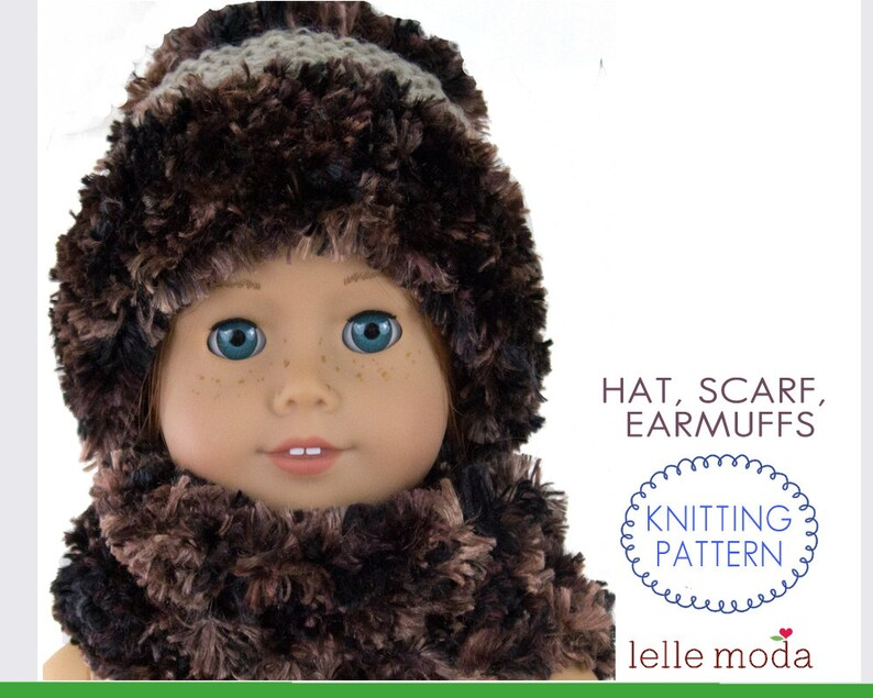 Hat Scarf Pattern For 18 Inch Dolls Knitting Pattern For Etsy