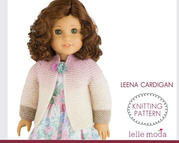 Doll Clothes Knitting Pattern Cardigan Pattern For 18 Inch Etsy