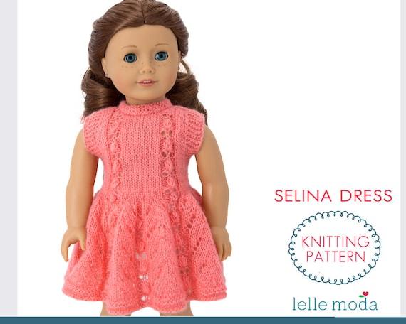 18 doll handknit dress fits American Girl