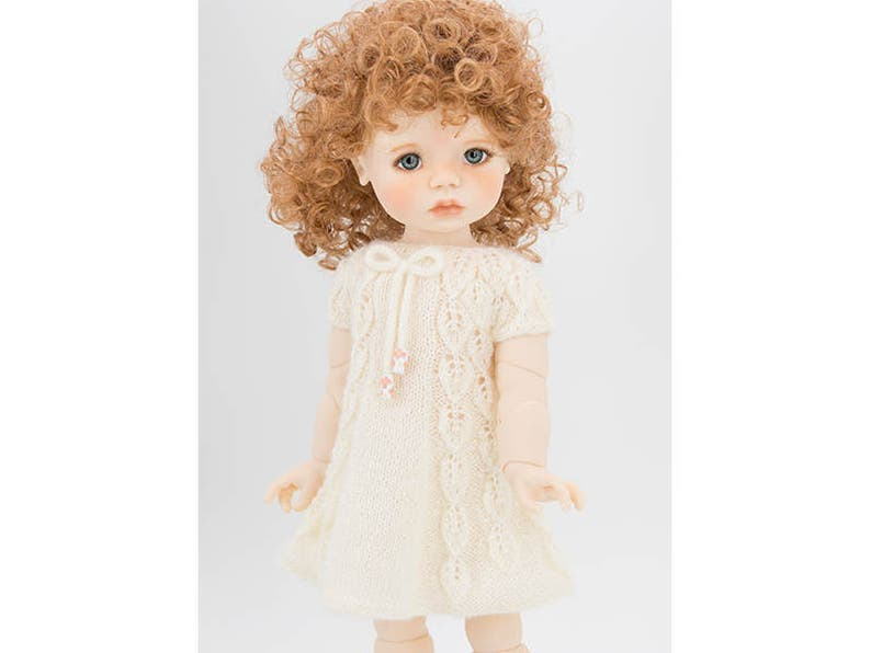 Lace Leaves Pattern Full Bodied 18 inch MSD BJD Doll Clothes Summer Dress Knitting Pattern for Saffi Doll by Meadow Dolls BJD Dress