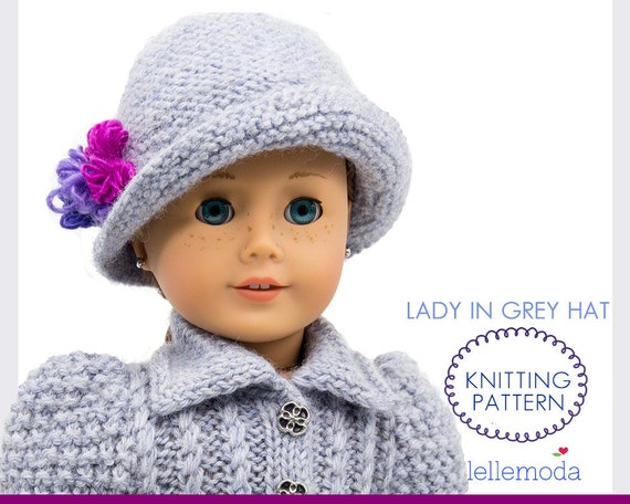 Cloche Hat For 18 Inch Doll Knitting Pattern Knitted Hat Etsy