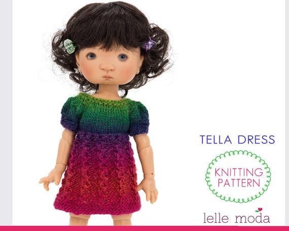 Bjd Doll Clothing Pattern Knitting Pattern Tella Doll Etsy