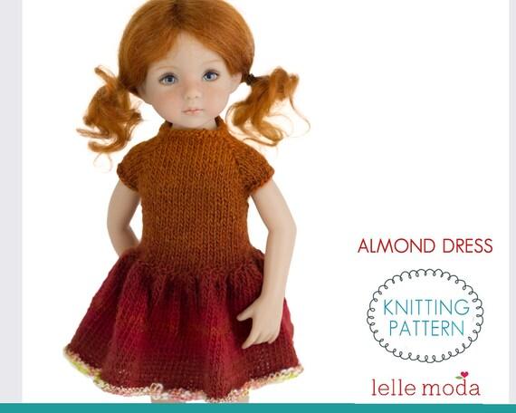 Almond Dress Knitting Pattern Little Darling Dolls By Etsy