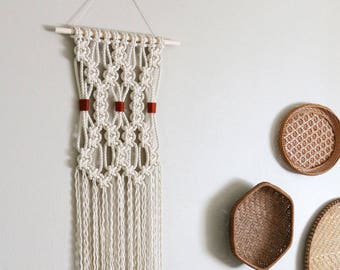 Macrame Wall Hanging with Colorful Yarn Wrap