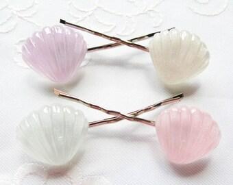 Seashell Hair Pins / Bobby Pins / Kawaii / Summer / Cute / Mermaid / Hair