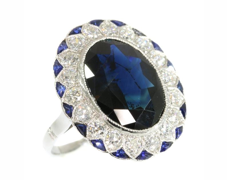 Belle Bague saphir naturel bague saphir bleu bague de fiançailles | Etsy HJ-22