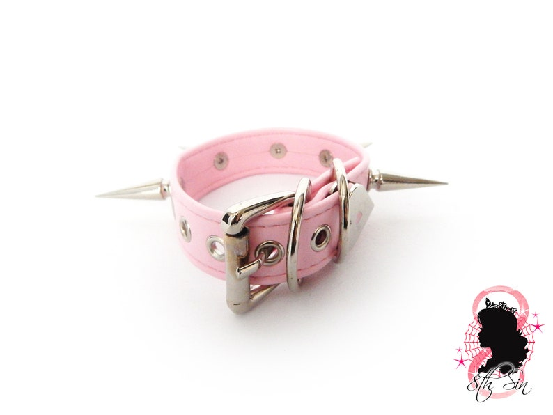 Pink Spike Stud Ankle Cuffs Pink Faux Leather Studded Ankle Cuffs Pink Faux Leather Ankle Cuffs Pink Studded Ankle Cuffs