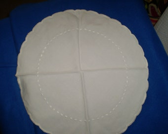 Embroidered Round Doiley