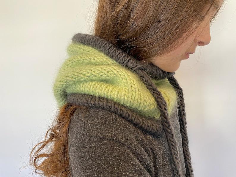 Scarf knitting pattern KNITTING PATTERN- The Streetwear Snood Slouchy Hood Cowl