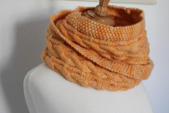 Knitting Pattern Reversible Cable Cowl Knitting Pattern Pdf Etsy