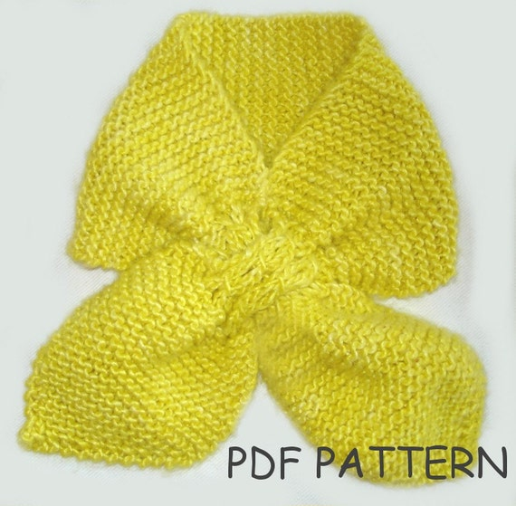 Knitting Pattern Toddler Ascot Scarf Knitting Pattern Pdf Etsy