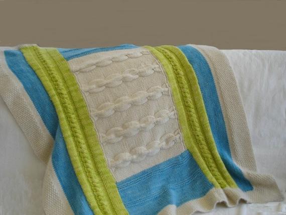 Knitting Pattern Patchwork Baby Blanket 2 Pdf Etsy