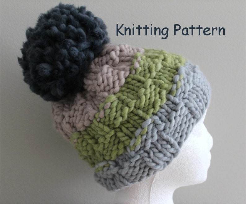 01fb066b0ec389 best Bulky Hat Knitting Pattern image collection