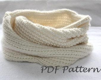 Knitting PATTERN- Snood Knitting Pattern PDF
